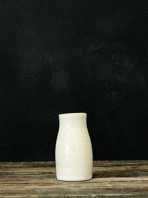 Soft White Milk-jug Vase
