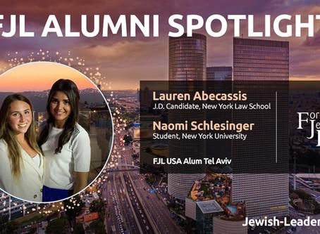 Spotlight on Alumni: Lauren Abecassis & Naomi Schlesinger
