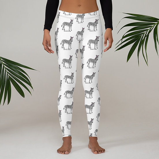 Abstract Theory Zebra All-Over Print Leggings