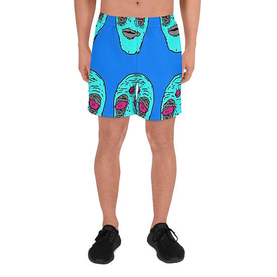 Blue Krusty Vibez Men's Athletic Long Shorts