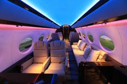 Business Jet Full Flight Cabin Simulator