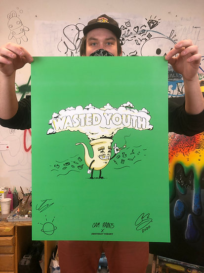 Hand-Embellished Official Wasted Youth Poster