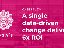 A single data-driven change delivers 6X ROI for Rosa's Thai Cafe