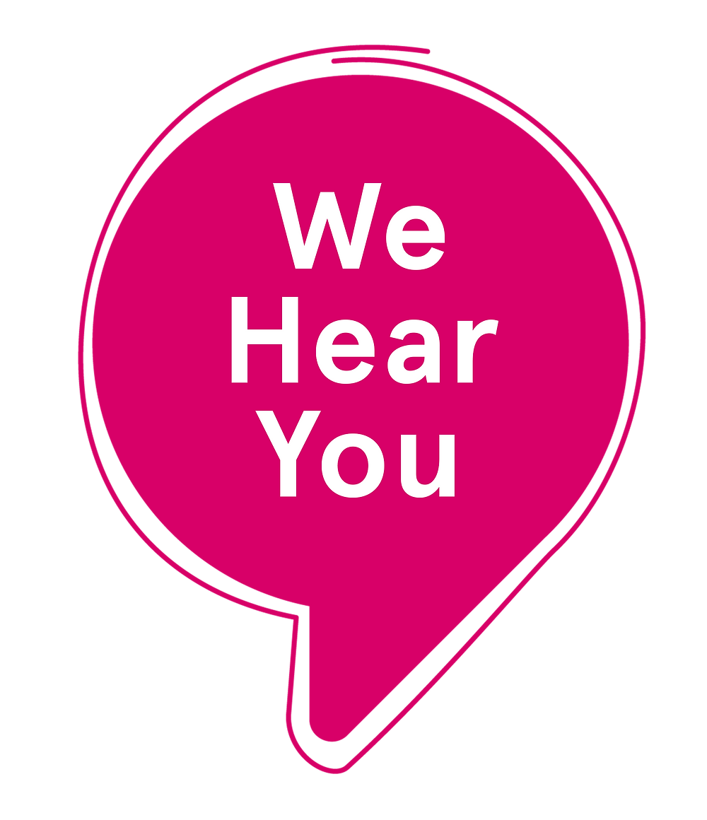 We hear you campaign logo