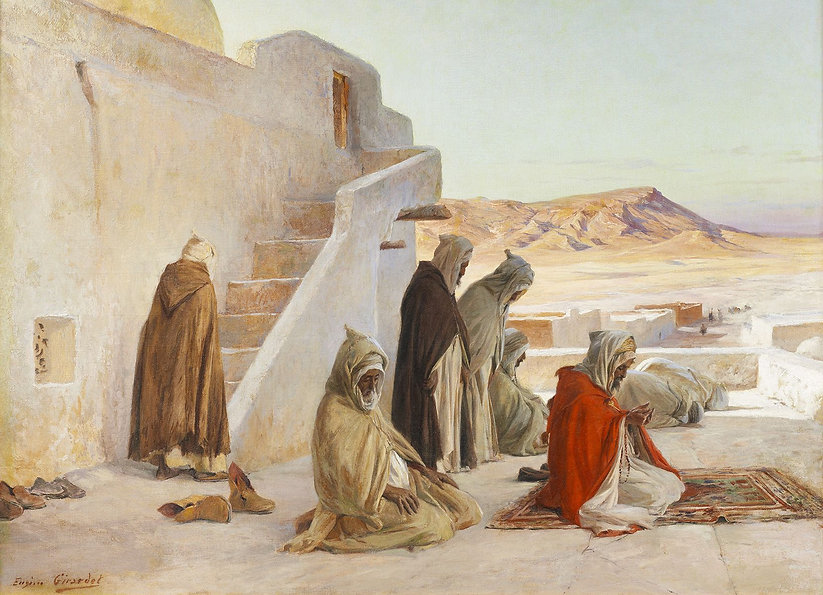 Eugène_Girardet_-_The_pray_at_Bou-Saada,