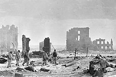 The center of Stalingrad after liberation