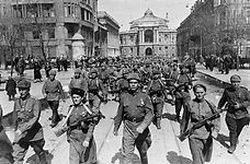 62nd Stalingrad Army on the streets of Odessa
