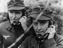 Two women of the German anti-aircraft gu