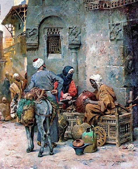 A Coppersmith, Cairo , 1884.jpg