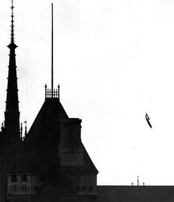 V1 Missile over London - 1945