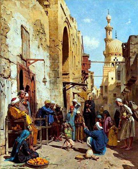 Cairo street 1892 (The Monkey).jpg