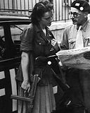 Member of the French resistance with Ger