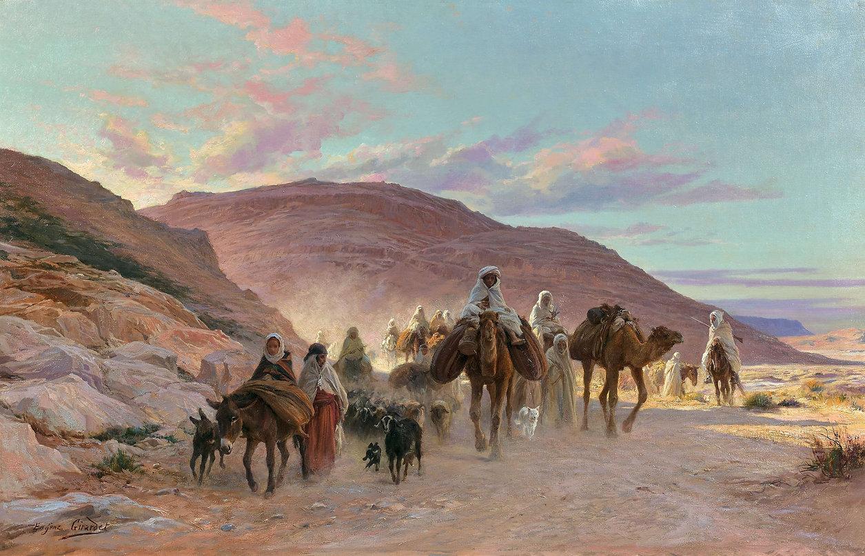 Girardet_-_Une_caravane_dans_le_désert.j
