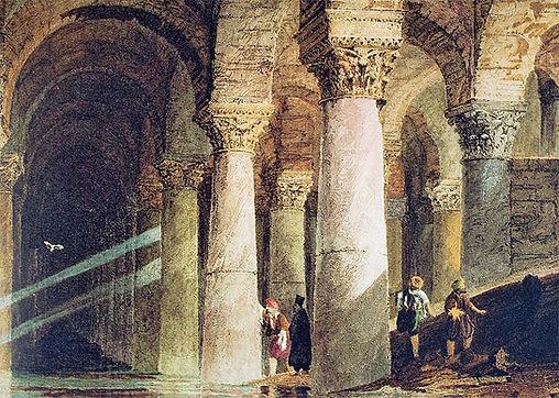 Painting of Basilica Cistern Konstantinople