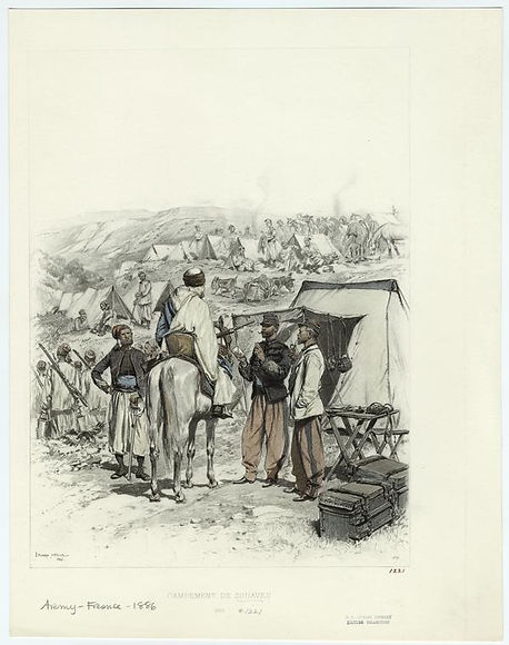 french-campement-de-zouaves-1886.-by-edo