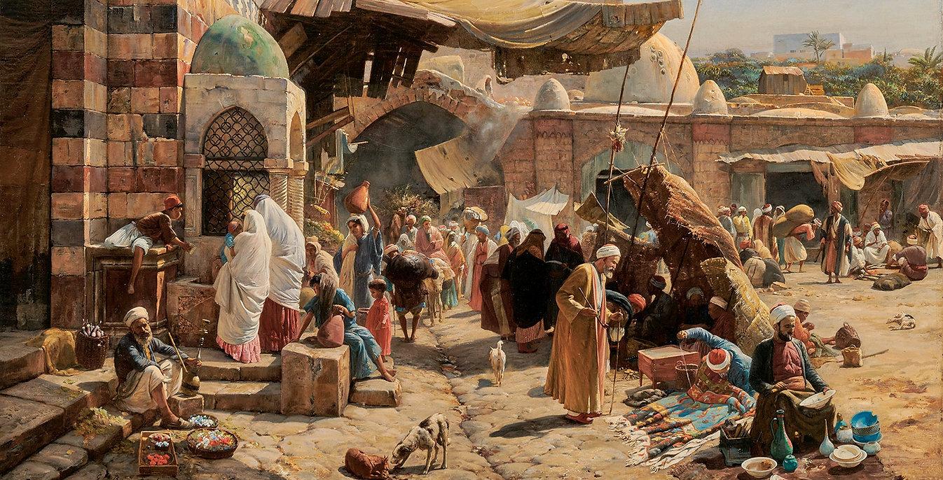 Gustav_Bauernfeind_-_Market_in_Jaffa,_18