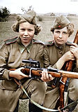 Russian snipers WW2