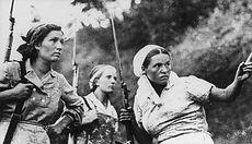 Three Soviet guerrillas in action in Rus