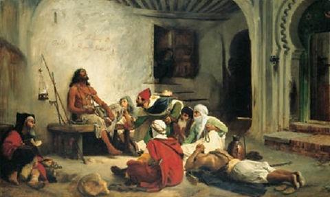 The Marabout prophet Sidna-Assisa, Moroc