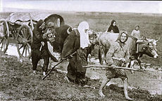 women carrying ammunition to the front d