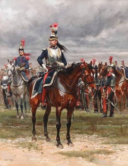Un officier des cuirassiers, fin 19eme.j