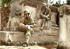 brief rest during the Allied invasion of