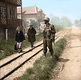 British soldier and French Civilians.jp