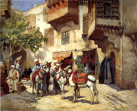 Marketplace-in-North-Africa-Frederick-Ar
