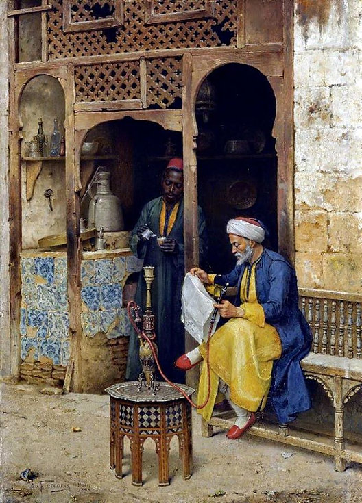 The Coffeehouse, Cairo , 1888.jpg