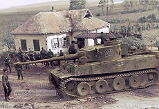 Panzer VI Tiger I during Operation Zitadelle in the Belgorod area of Russia. Early August 1943