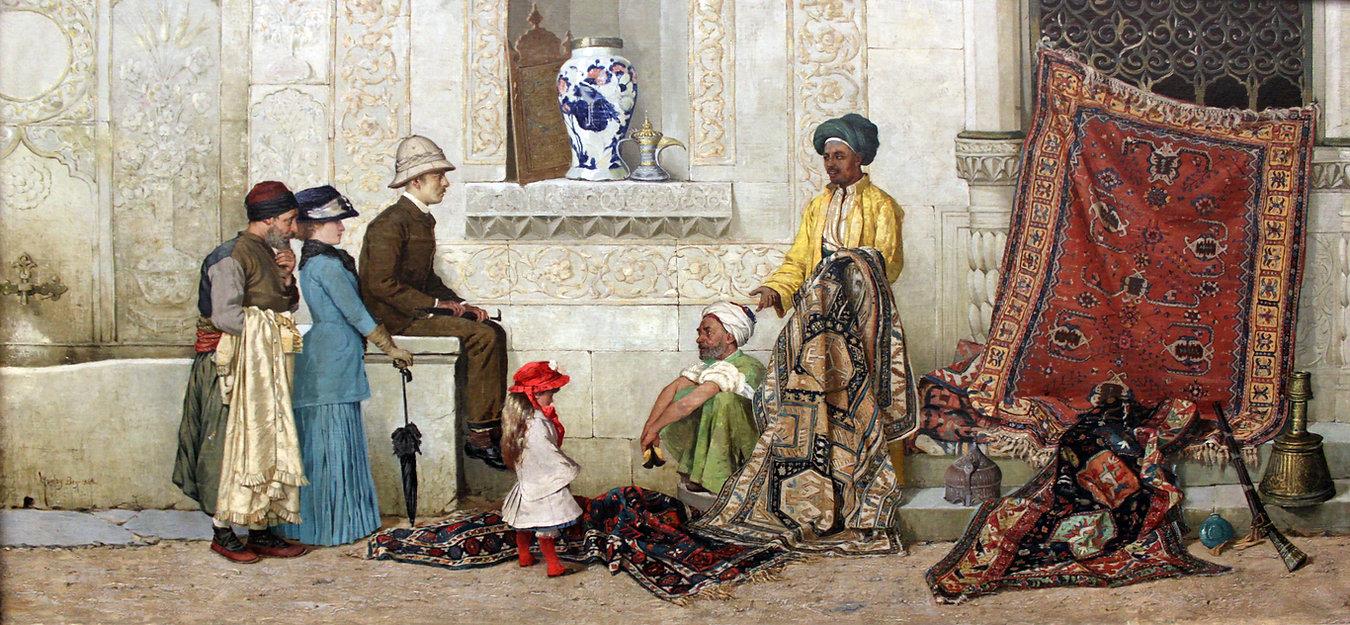 1888_Bey_Persischer_Teppichhändler_auf_d
