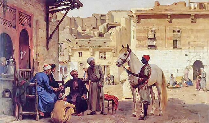 Negotiations in the Market Place , Cairo