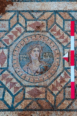 MOSAIC THAT WAS EXCAVATED IN 2018