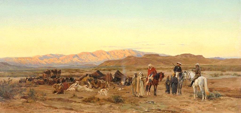 Bei Biskra - Nomadenlager mit zwei reise