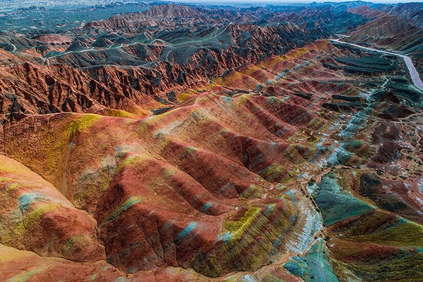 The Zhangye Danxia Landform Geological Park