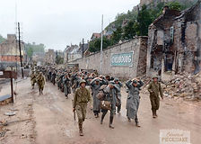 79th Inf.Div. is escorting German p.o.w.