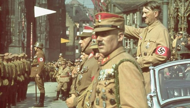 Hitler in a Parade