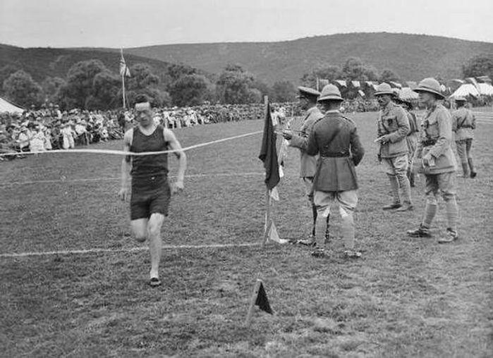 British Soldirs Having Sports