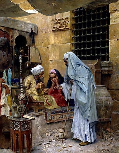 In the Bazaar , Cairo , 1901.jpg