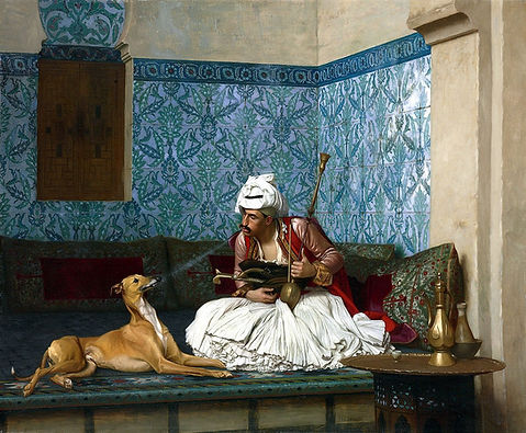 Arnaut_and_his_dog_by_Jean_Leon_gerome.j