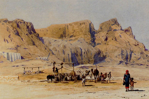 A-Camel-Train-At-Aden-by-Charles-Wilda.j