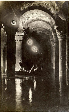 Old photo of Basilica Cistern