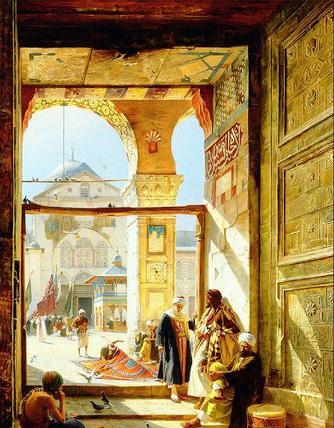 Gate of the Umayyad Mosque by Gustav Bau