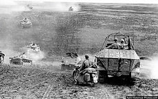 The German 24th Panzer Division moving t