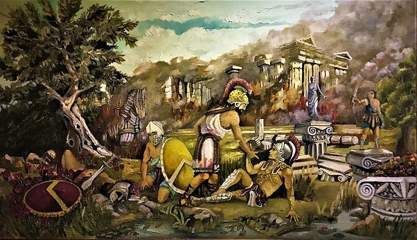 Trojan War Painting