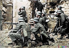 German soldiers in a posed photo on or s