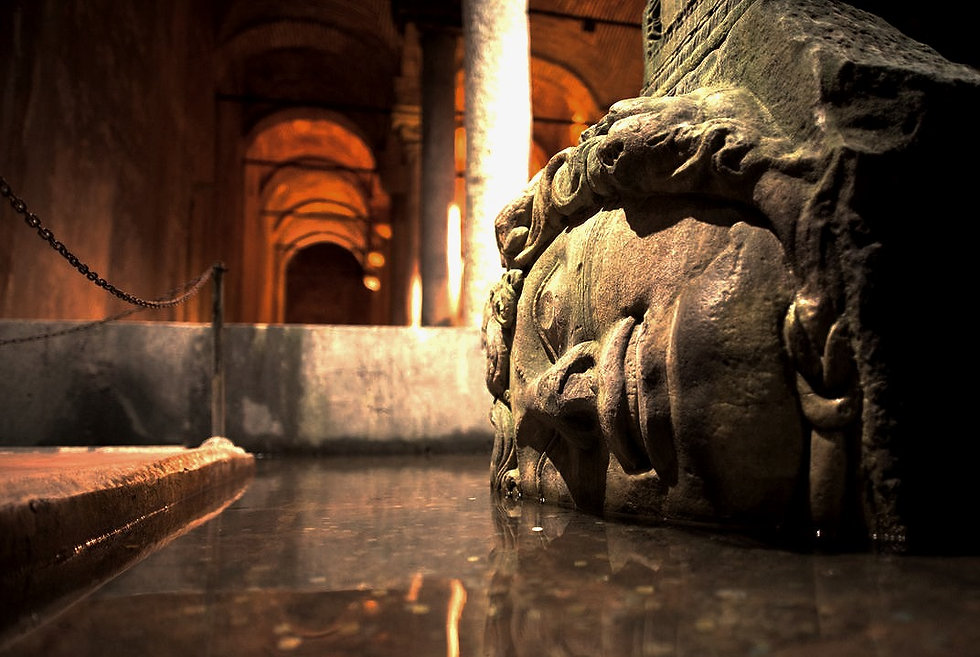 Mudusa Head in Basilica Cistern Istanbul