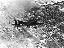 A Junker JU 87 dive bomber attacks The R