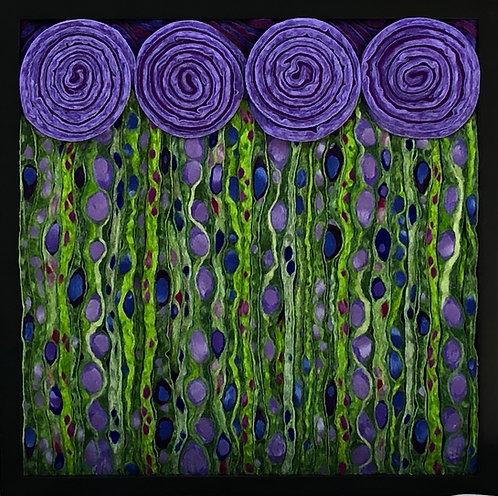 """Purple Nouveau Meadow 9.5"""" x 9.5"""""""