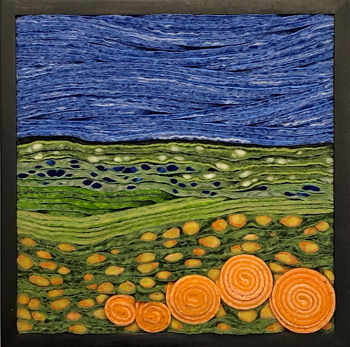 """Meadow with Melon 9.5"""" sq."""